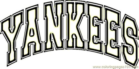 yankees coloring pages printable new york yankees free colouring pages