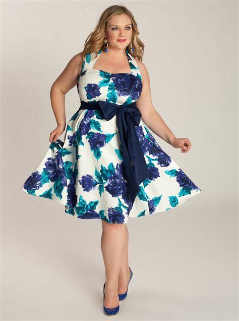 1950s plus size dresses clothing print vintage floral 1950s style plus size dress 135