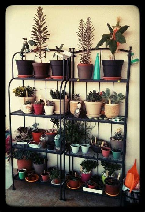 balcony garden  ikea lacko shelves apartment