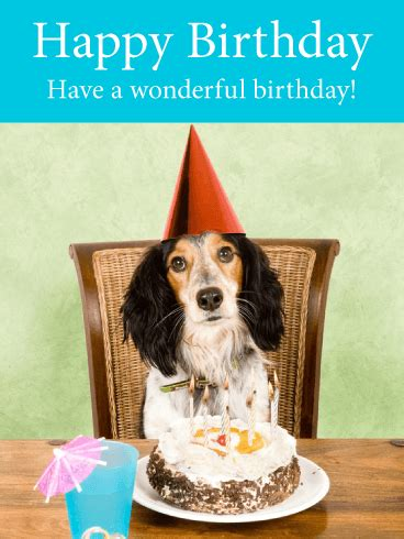 Birthday Cards With Dogs Happy Dog Birthday Card Birthday Greeting Cards By Davia