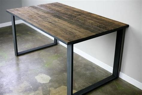 made modern industrial dining table desk reclaimed