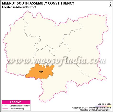meerut on india map meerut south assembly constituency map meerut south