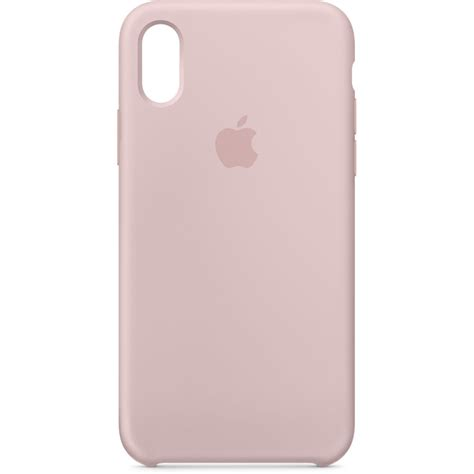 apple iphone  silicone case pink sand mqtzma bh photo