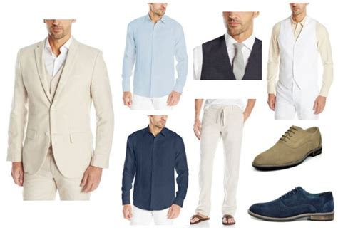 Men Linen Beach Wedding Attire   Outside The Box Wedding