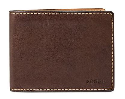 boutique malaysia fossil leather bifold mens wallet