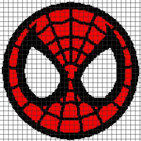 spiderman loom pattern spiderman chart graph and row by row written instructions
