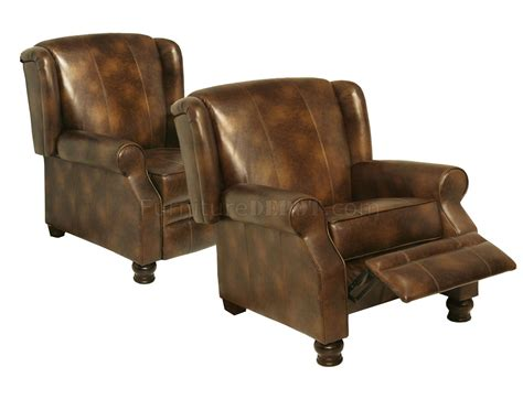 classic recliner chairs toast bonded leather classic colby reclining chair