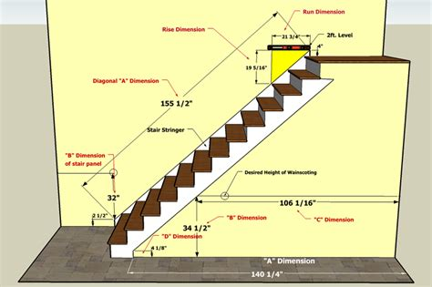 How To Measure For Wainscoting by How To Measure Your Staircase For Wainscoting Panels