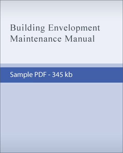 o and m manual template sle building envelopment maintenance reports and