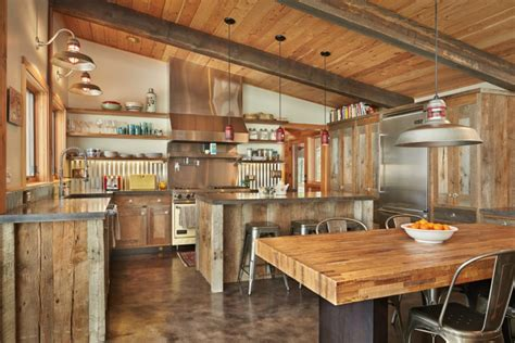 20 Rustic Kitchen Designs Ideas Design Trends Rustic Kitchen Lighting