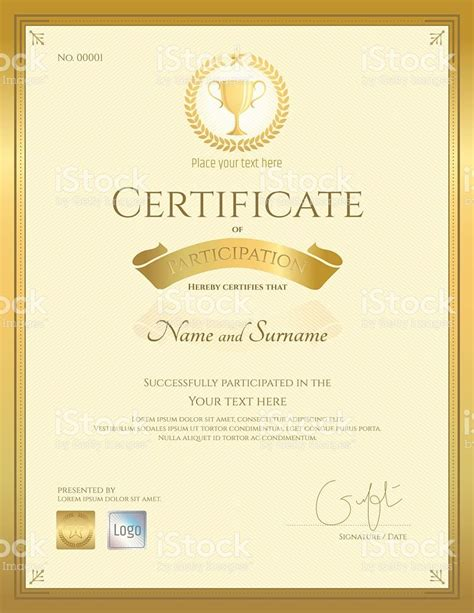 template certificate of participation 3 free certificates of