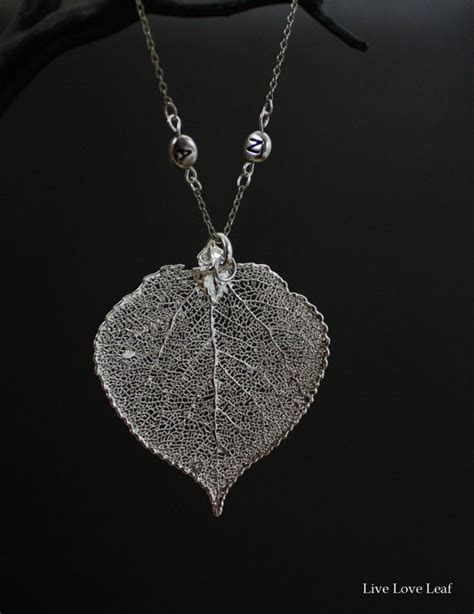 how to make real leaf jewelry customized real aspen leaf pendant necklace w initials on