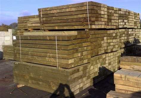 Eco Sleepers by New Eco Treated Railway Sleepers New Eco Friendly Treated Softwood Railway Sleepers Ideal For All