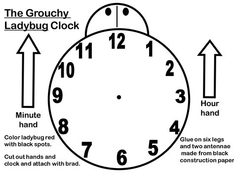 Make A Paper Clock Template - 12 best images of clock without worksheet grouchy