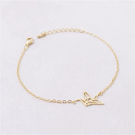 Origami Chain Link - shuangshuo link chain animal origami crane bracelet for