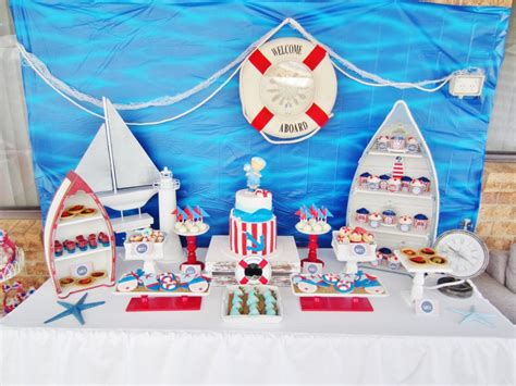 nautical themed baby shower decorations it s a boy nautical baby shower baby shower ideas