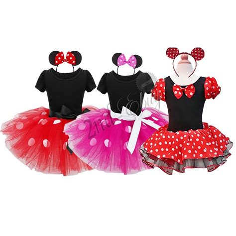 baby toddler kid minnie mouse costume