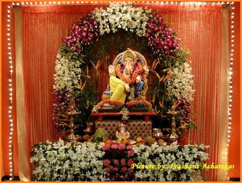 ganpati decoration at home ganpati decoration ideas ganesh decoration photos