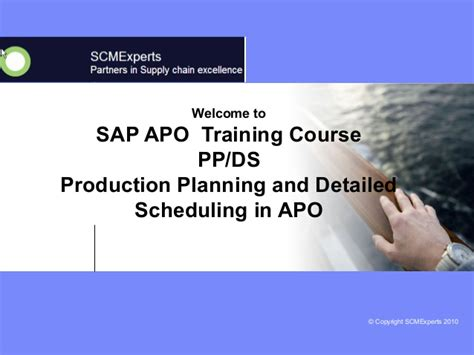 tutorial sap apo scm apo pp ds production planning and detailed scheduling
