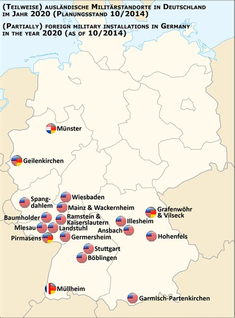 map us bases list of united states army installations in germany