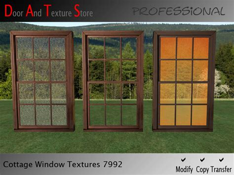 glass house windows second life marketplace sale cottage window textures house windows premium