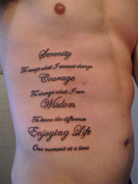 rib tattoos for men quotes 30 devoted serenity prayer tattoos creativefan