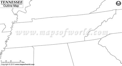 Tennessee Outline Map by Buy Blank Map Of Tennessee