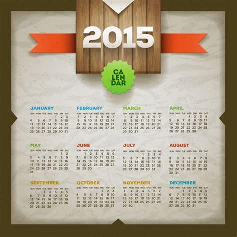 graphic design calendar 2015 vintage paper 2015 calendar vector graphics vector