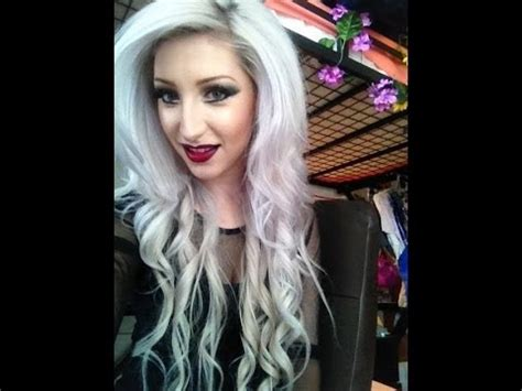 unlayered hair how to dye your hair white youtube