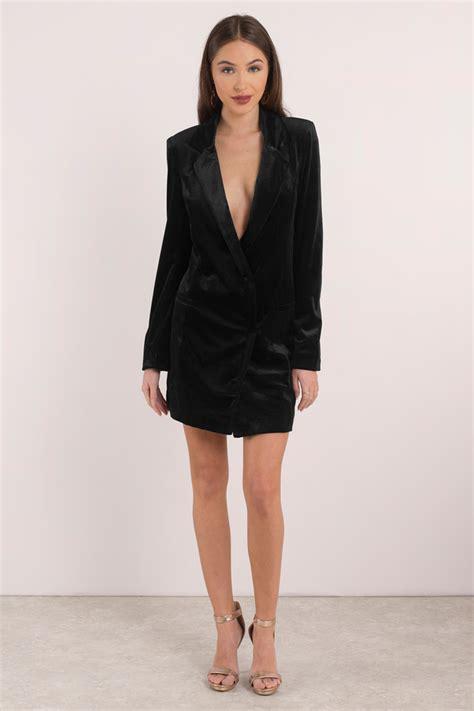 sexy black shift dress velvet long sleeve dress black