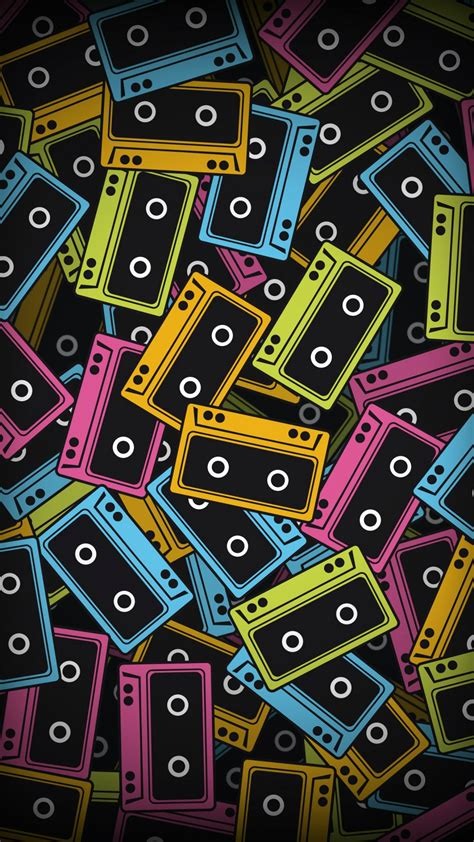imagenes vintage para iphone audio cassette color vector wallpapers 1080x1920 472714
