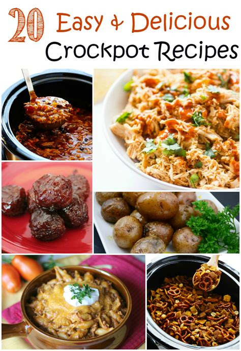 20 easy delicious crockpot recipes the craftiest couple
