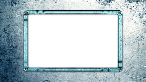 photo frame blue metal  image  pixabay