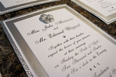 bling bling diy invites weddingbee photo gallery