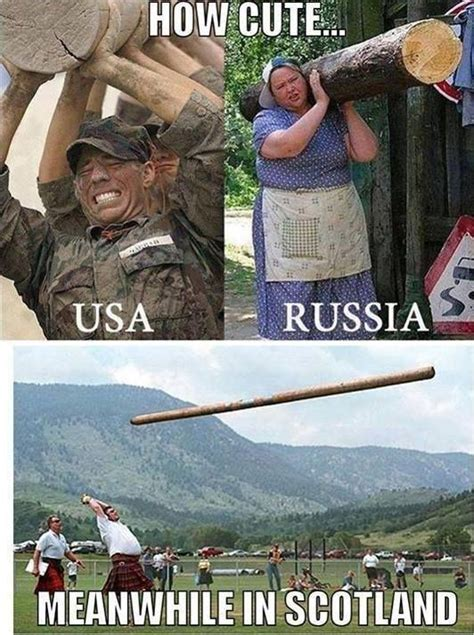 Funny Scottish Memes - usa russia v scotland scottish banter