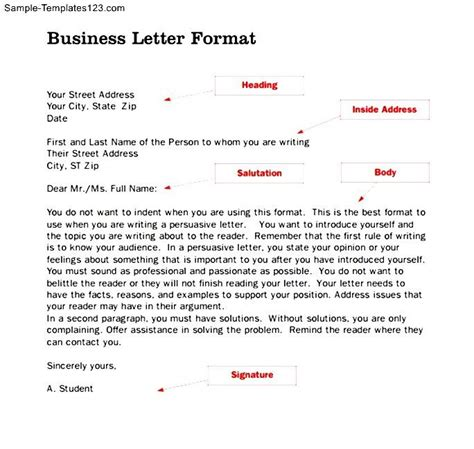 business letter format and sle business letter template pages 28 images 10 business