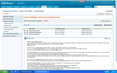 Itil Service Level Agreement Template Managed Services Sla Template