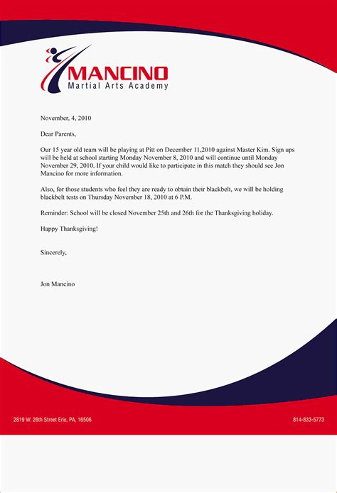 business letter with logo company letterhead exle 4 jpg letterhead