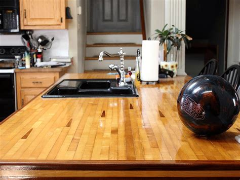Bowling Countertop by Bowling Countertop Really Ties The Room Together