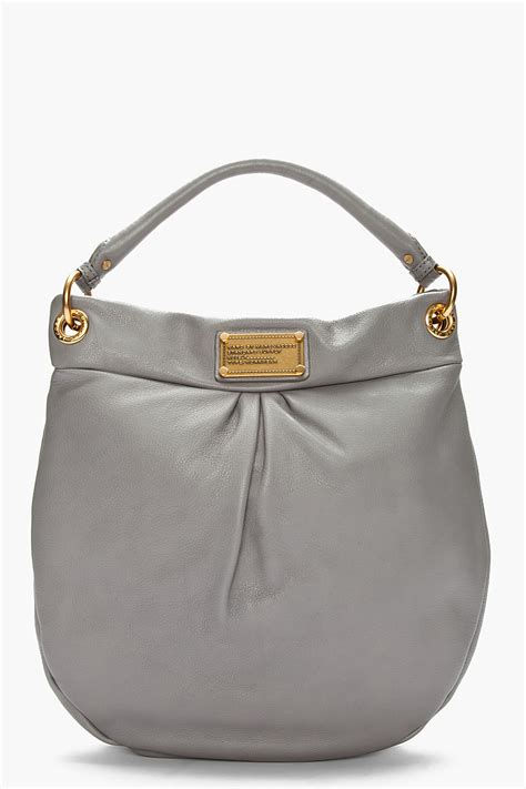 Marc By Marc Aline Leather Handbag by Lyst Marc By Marc Grey Leather Hillier Hobo Bag