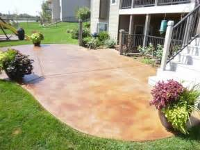 Concrete Patio Staining by Stained Concrete Patio Outdoor Pinterest