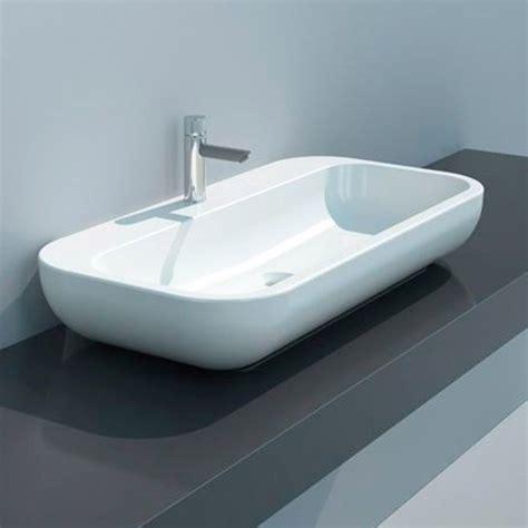 lavello da appoggio lavabo qubo da appoggio 70x40x15 cm