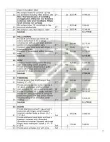 Architectural Design Home Plans bill of quantities