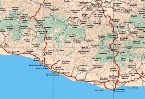 oaxaca mexico map mapa de oaxaca mexico