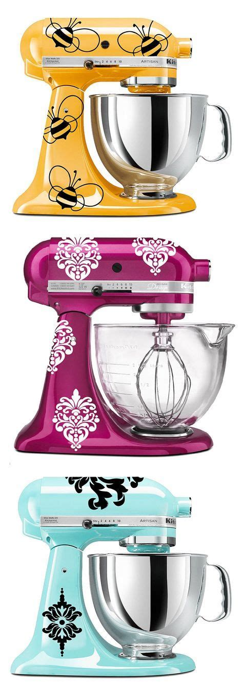cute mixer themes kitchenaid mixer decals love this idea kitchen