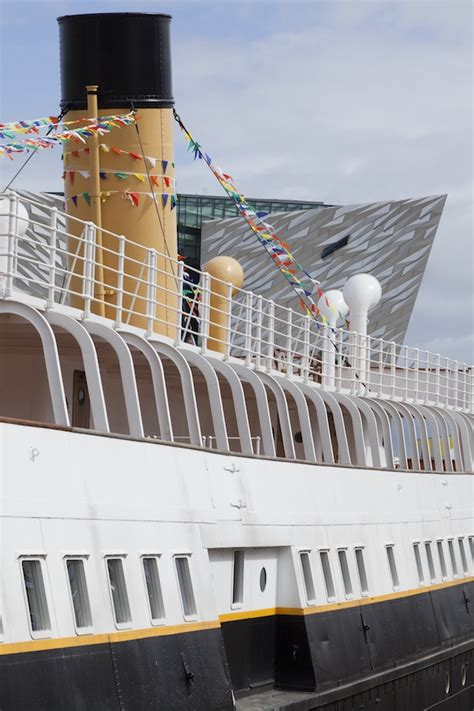 side of a ship or boat church on a boat the dock life in the titanic quarter