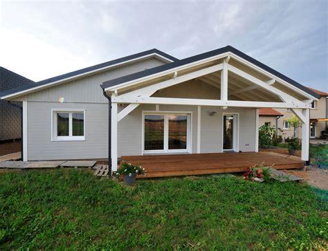 Plan De Maison Plein Pied En U maison bois plein pied nos maisons ossatures bois maison