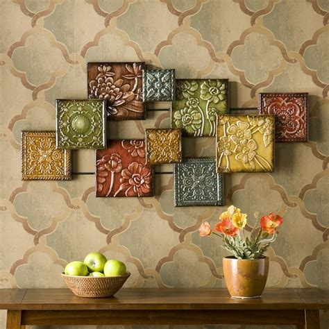 metal home decor metal wall decor abstract sculpture multi color floral