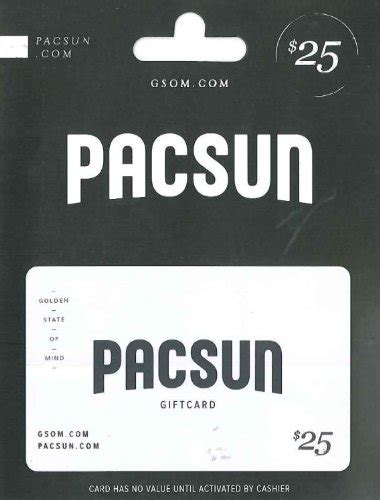 Pacsun Gift Cards - pacific sunwear 25 arts entertainment party celebration gift giving gift cards