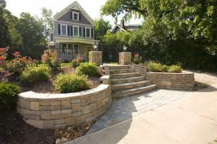 Front Garden Wall Ideas Front Yard Landscaping Ideas Contemporary Landscape Other By Allan Block Retaining Wall
